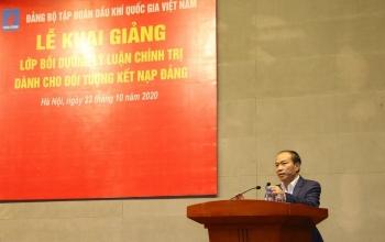 Bồi dưỡng lý luận chính trị năm 2020 cho đối tượng kết nạp Đảng và Đảng viên mới trong toàn Đảng bộ Tập đoàn Dầu khí Quốc gia Việt Nam
