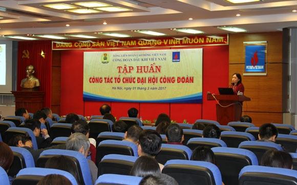 tap huan cong tac to chuc dai hoi cong doan