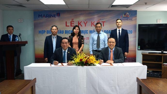 BIENDONG POC và PTSC Marine ký kết hợp đồng tàu dịch vụ trực mỏ giai đoạn 2019-2020