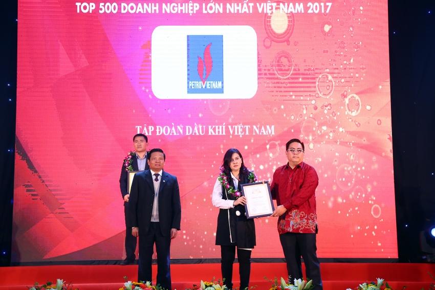 PVN được vinh danh Doanh nghiệp Việt Nam xuất sắc năm 2017