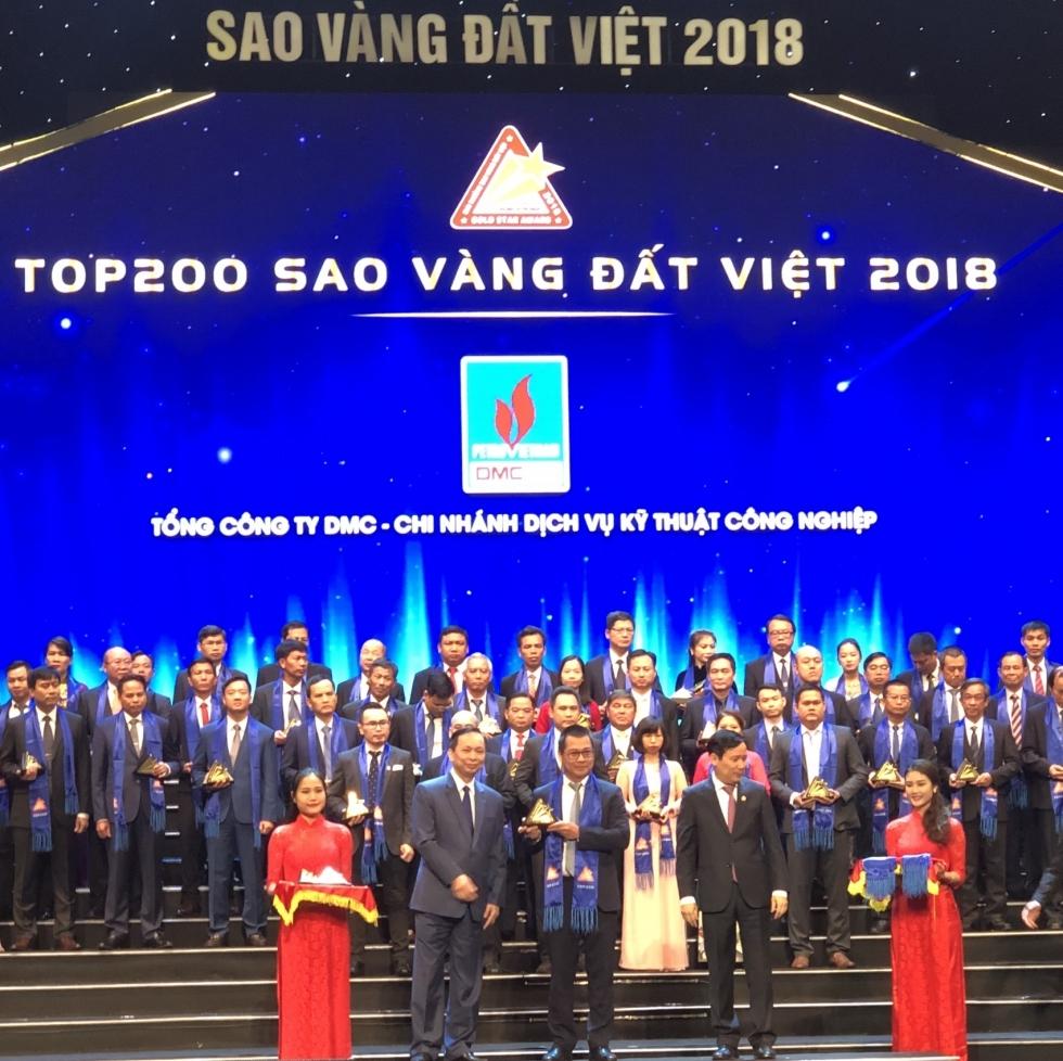 dmc its vinh du don nhan giai thuong sao vang dat viet nam 2018