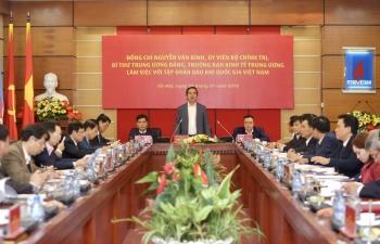 Trưởng ban Kinh tế Trung ương Nguyễn Văn Bình làm việc với Tập đoàn Dầu khí Việt Nam