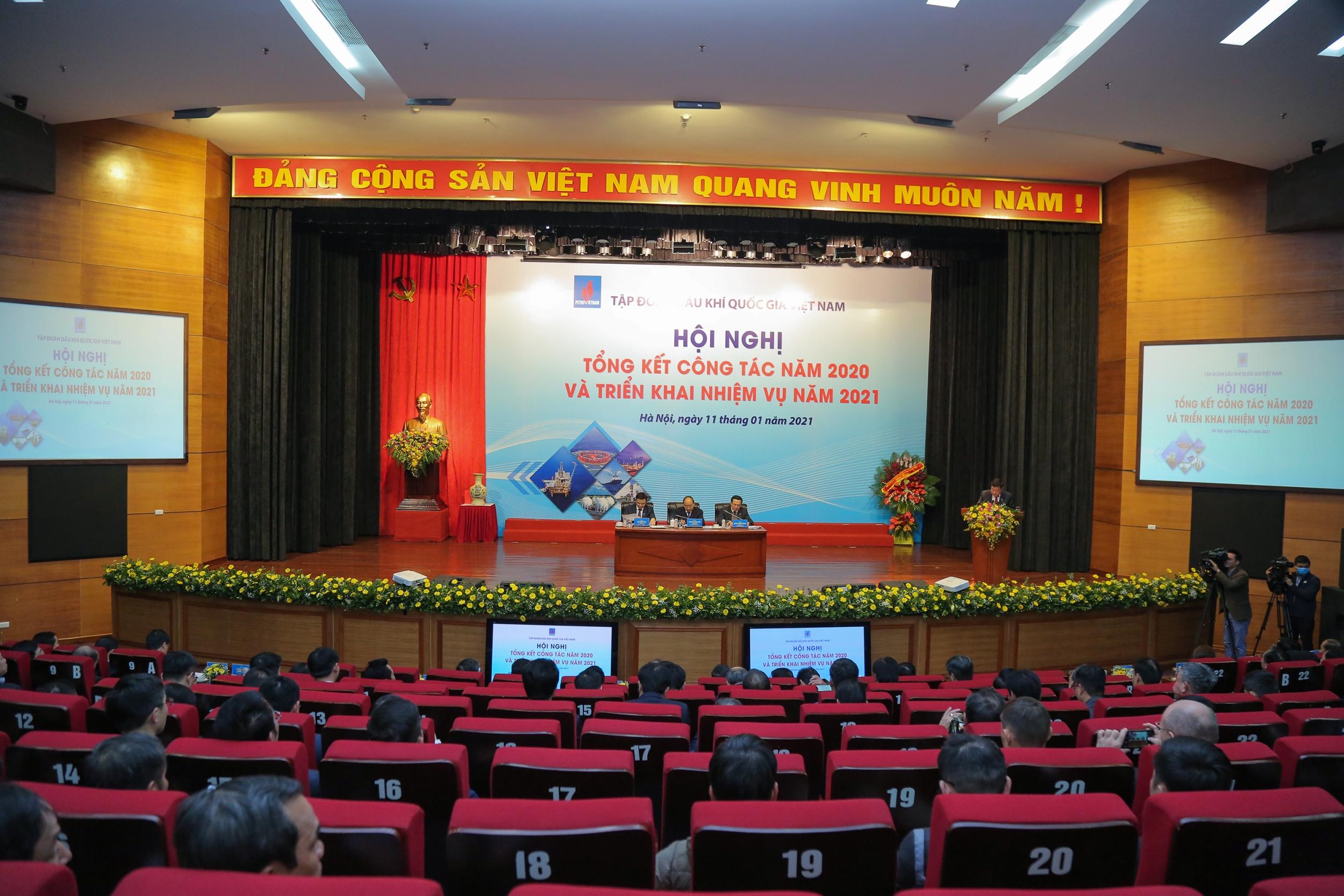 Thủ tướng Chính phủ Nguyễn Xuân Phúc dự và chỉ đạo Hội nghị tổng kết năm 2020, triển khai nhiệm vụ năm 2021 của Petrovietnam
