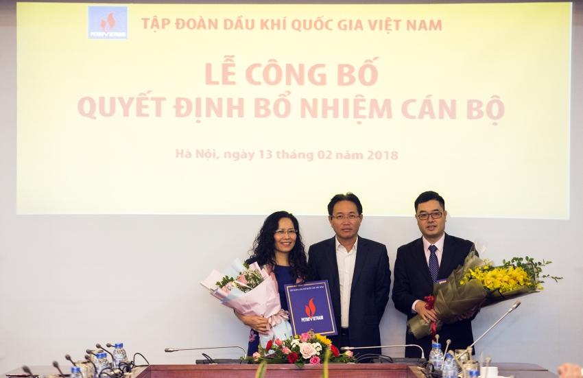 PVN bổ nhiệm cán bộ lãnh đạo các Ban, Văn phòng Tập đoàn