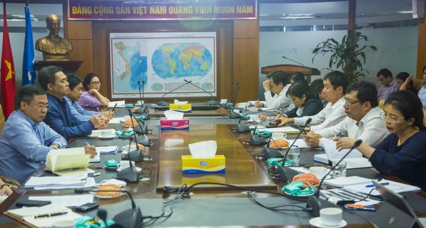 Phó Tổng giám đốc PVN Phạm Tiến Dũng làm việc với PV Power