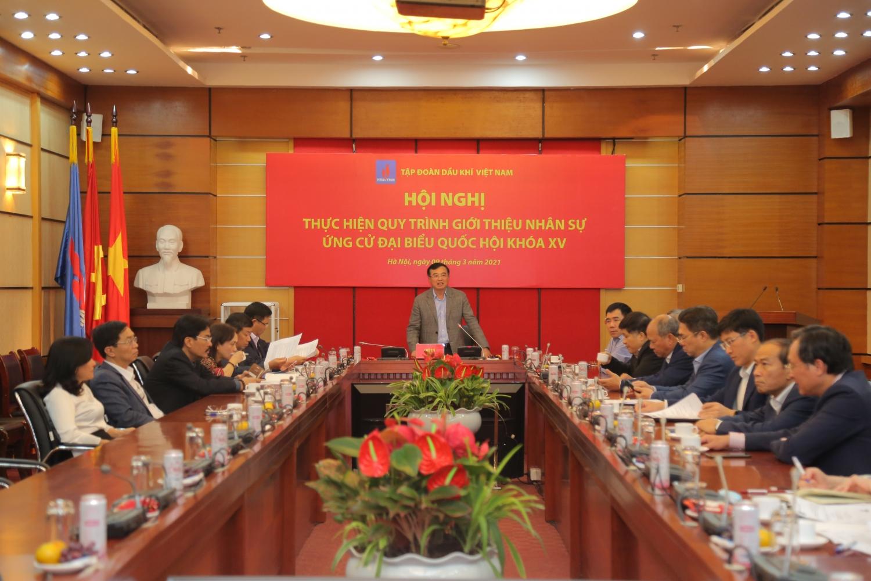 Petrovietnam giới thiệu Tổng Giám đốc Lê Mạnh Hùng ứng cử Đại biểu Quốc hội khoá XV