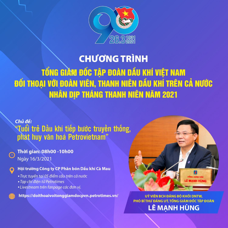 Tổng Giám đốc Petrovietnam Lê Mạnh Hùng đối thoại với Tuổi trẻ Dầu khí