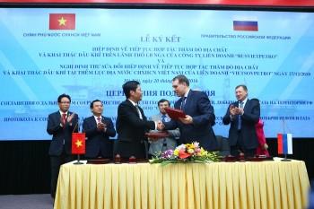 [Chùm ảnh] Lễ ký kết Hiệp định Liên Chính phủ Việt - Nga