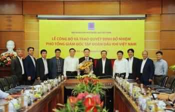 Petrovietnam công bố, trao quyết định Phó Tổng giám đốc Tập đoàn đối với đồng chí Lê Ngọc Sơn