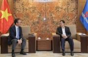 Chủ tịch HĐTV Petrovietnam Hoàng Quốc Vượng tiếp Tổng Giám đốc Công ty Sojitz Việt Nam