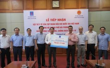 PVN trao tặng vật tư y tế trị giá 1 tỷ đồng ủng hộ TP Hải Phòng chống dịch bệnh Covid-19