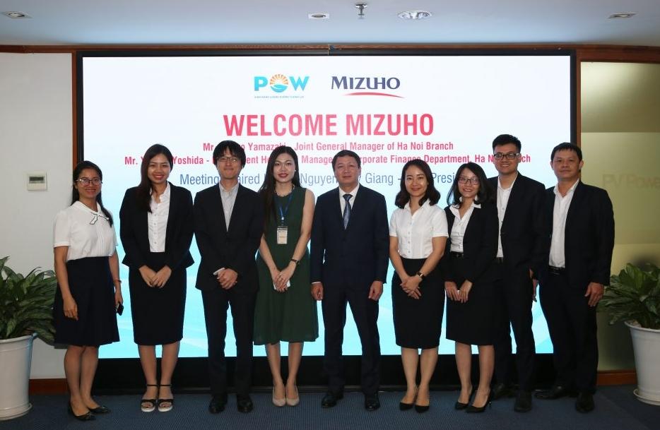 Lãnh đạo PV Power làm việc với Mizuho Bank