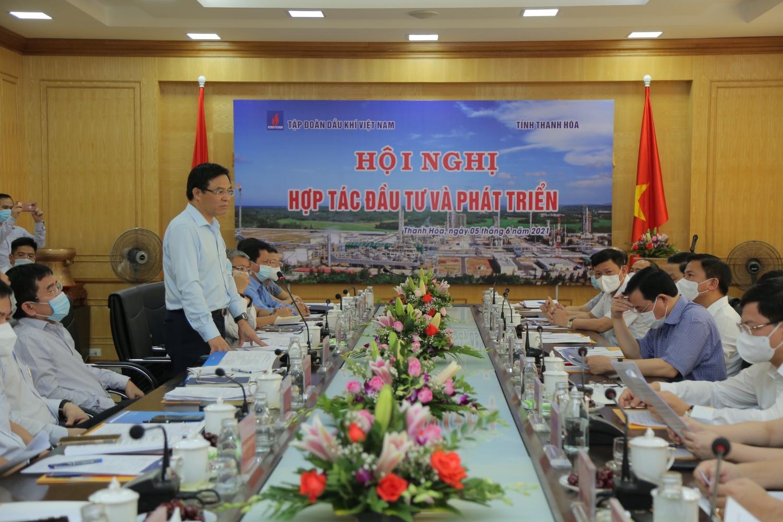 Trong quá trình xây dựng, phát triển, Petrovietnam luôn nhận được sự đồng hành, hỗ trợ của Đảng bộ, chính quyền và nhân dân Thanh Hóa