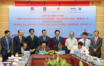 PVN ký kết các hợp đồng phát triển dự án Sao Vàng – Đại Nguyệt (Lô 05-1b&c)