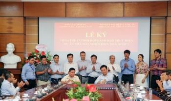 Đảng ủy Cơ quan Tập đoàn ký kết thỏa thuận phối hợp với Đảng ủy Ban QLDA NMNĐ Thái Bình 2