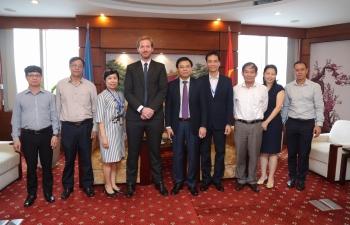 Tổng giám đốc Petrovietnam Lê Mạnh Hùng tiếp lãnh đạo Perenco Việt Nam