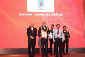 PVTrans được vinh danh Top 10 Doanh nghiệp niêm yết uy tín năm 2019