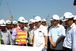 Phó Thủ tướng Hoàng Trung Hải kiểm tra tiến độ NMNĐ Thái Bình 2