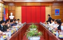 Đảng ủy Khối DNTW làm việc với Ban Thường vụ Đảng ủy Tập đoàn DKQGVN