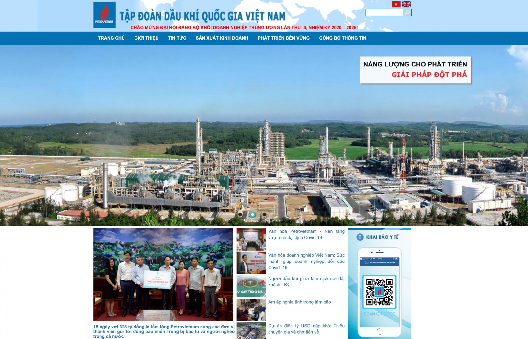 Website của PVN dẫn đầu về lượt truy cập trong các tập đoàn, tổng công ty