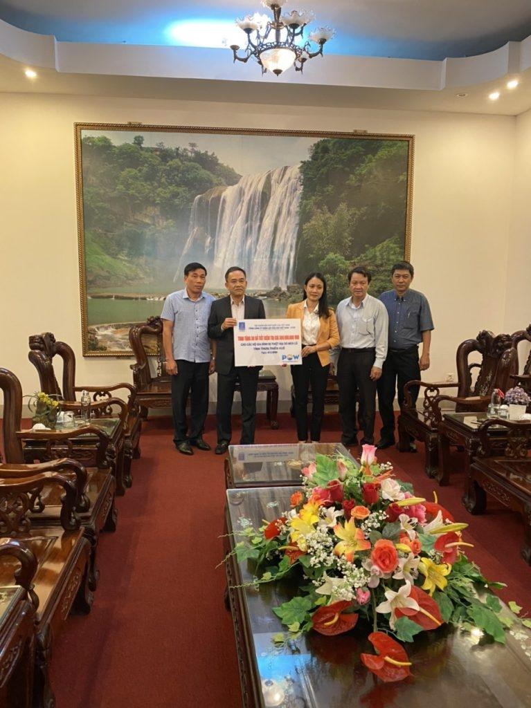 PV Power trao tặng 750 triệu đồng hỗ trợ các tỉnh miền Trung