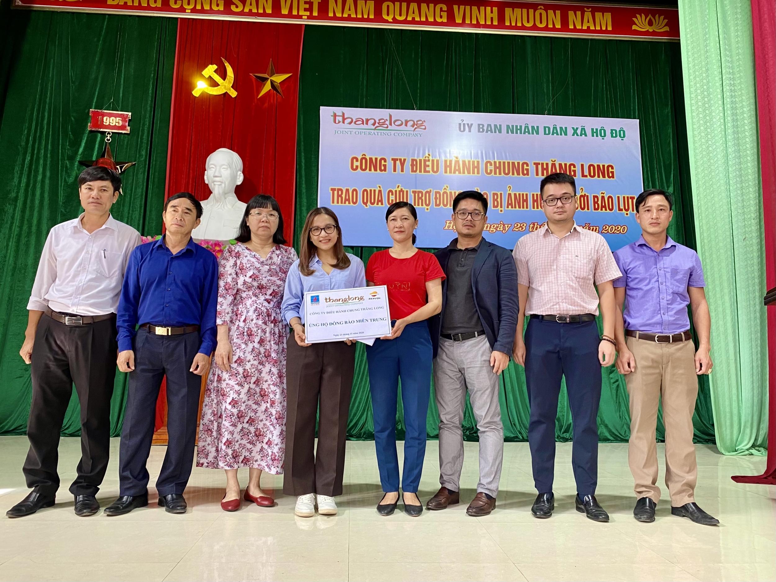 Thăng Long JOC hỗ trợ đồng bào gặp thiên tai tại Hà Tĩnh
