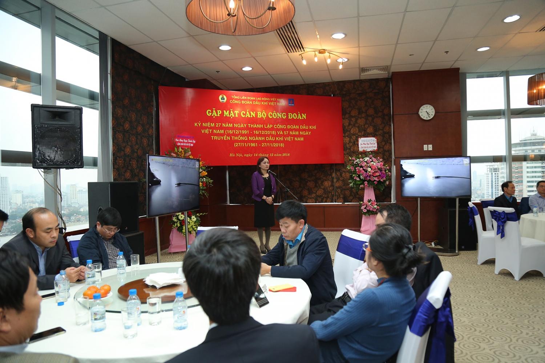 Công đoàn Dầu khí Việt Nam gặp mặt cán bộ công đoàn khu vực phía Bắc