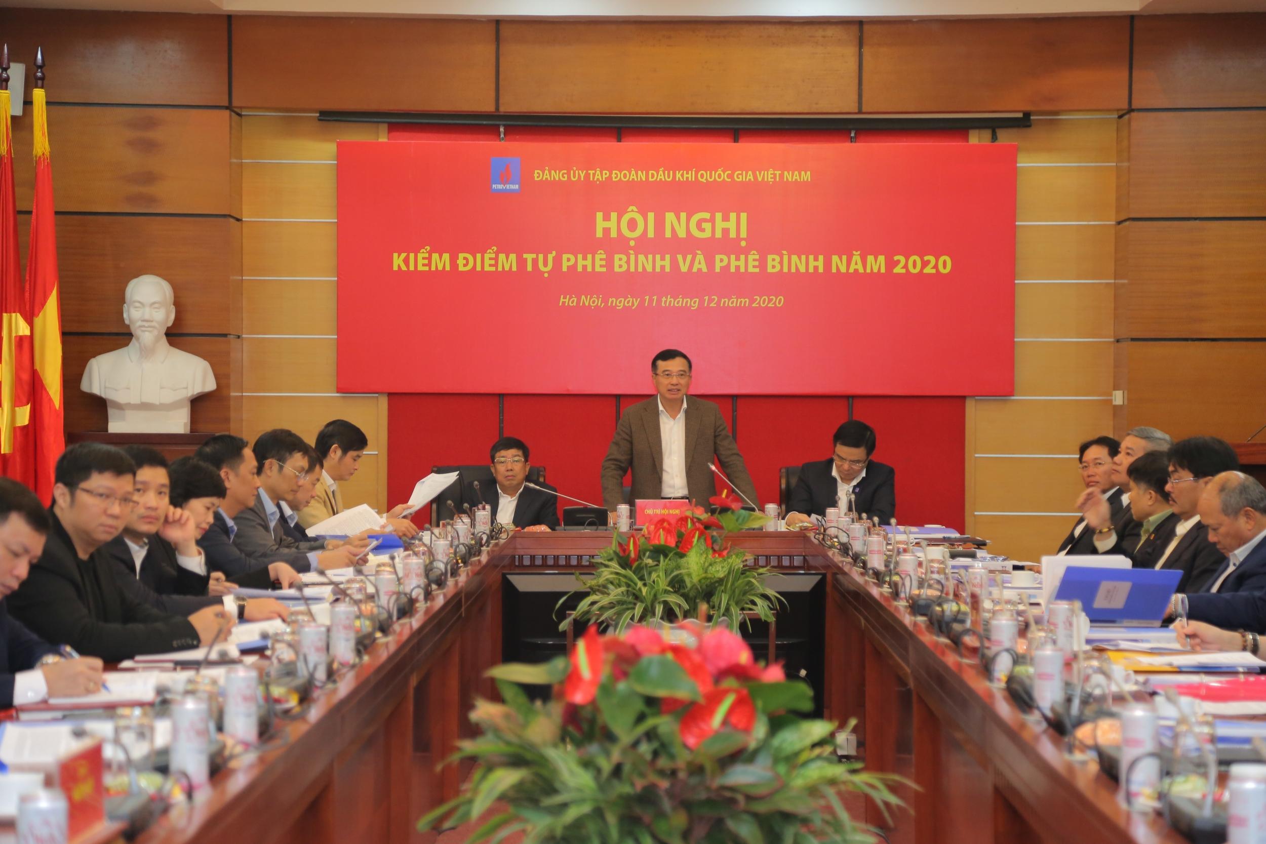 Đảng ủy Tập đoàn tổ chức Hội nghị kiểm điểm tự phê bình và phê bình năm 2020