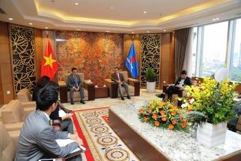 Chủ tịch HĐTV Petrovietnam tiếp các đối tác ExxonMobil và MOECO