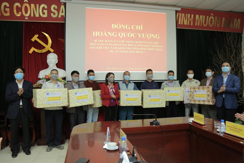 Chủ tịch HĐTV Petrovietnam Hoàng Quốc Vượng kiểm tra tiến độ dự án NMNĐ Thái Bình 2