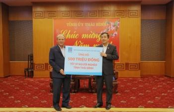 Petrovietnam ủng hộ Tết vì người nghèo tỉnh Thái Bình 500 triệu đồng