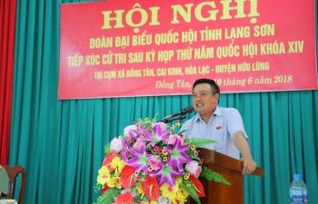 Chủ tịch HĐTV PVN Trần Sỹ Thanh tiếp xúc cử tri huyện Hữu Lũng, tỉnh Lạng Sơn