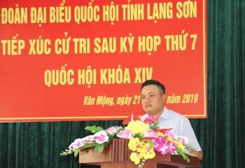 Chủ tịch HĐTV PVN Trần Sỹ Thanh tiếp xúc cử tri tại huyện Văn Quan, Lạng Sơn