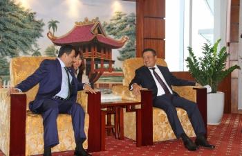 Chủ tịch HĐTV Petrovietnam Trần Sỹ Thanh tiếp Đại sứ đặc mệnh toàn quyền UAE