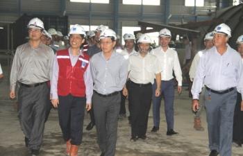 Lãnh đạo PVN kiểm tra tiến độ dự án NMNĐ Thái Bình 2