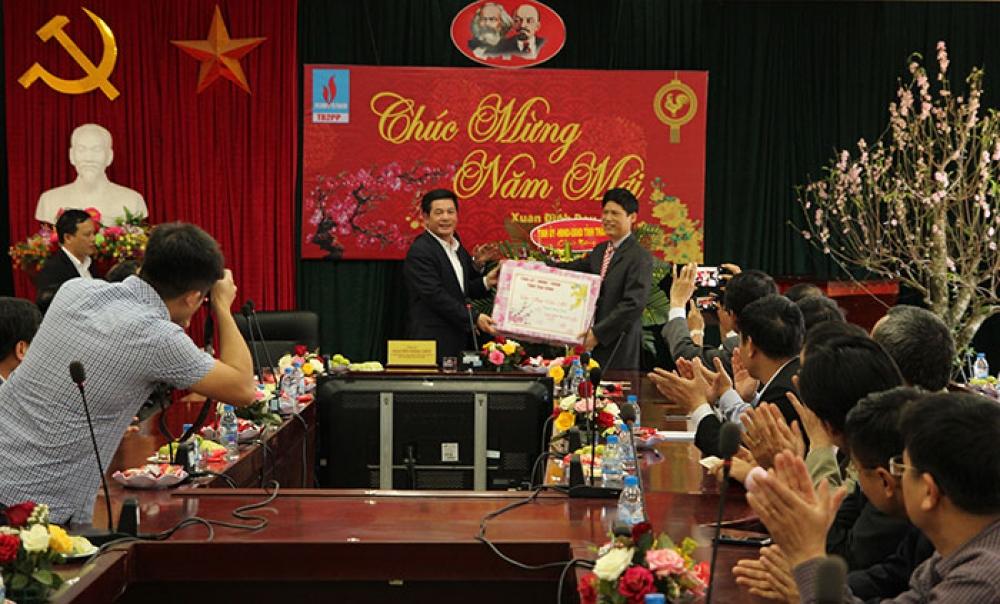 lanh dao ubnd tinh thai binh chuc tet tai du an nha may nhiet dien thai binh 2