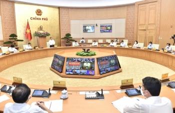Thủ tướng Phạm Minh Chính chủ trì cuộc họp trực tuyến với 8 địa phương về phòng chống dịch bệnh