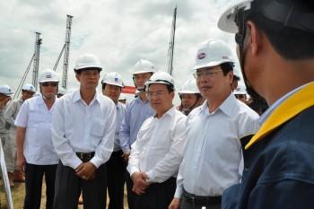 Bộ trưởng Bộ Công Thương kiểm tra tiến độ dự án Nhiệt điện Sông Hậu 1