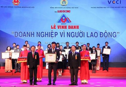 4 doanh nghiep nganh dau khi duoc vinh danh doanh nghiep vi nguoi lao dong nam 2017