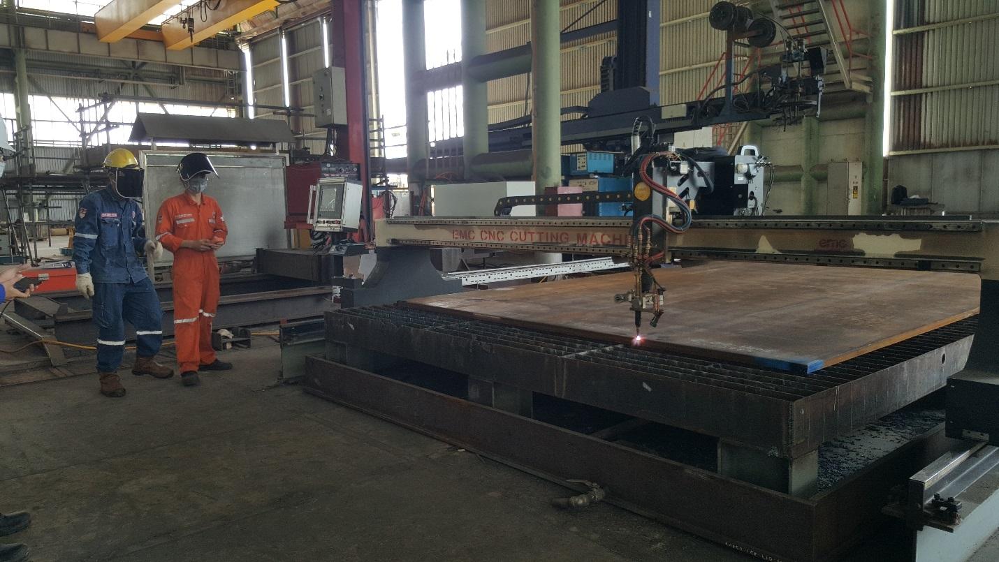 khởi công thi công chế tạo 02 chân đế giàn ZWP12 và ZWP15 thuộc dự án phát triển mỏ Zawtika 1D.