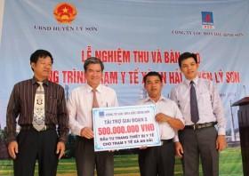 BSR bàn giao công trình Trạm Y tế trên đảo Lý Sơn