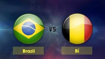 Link xem trực tiếp bóng đá Brazil vs Bỉ