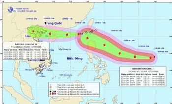 Bão số 5 đang tiến sâu vào biển Đông