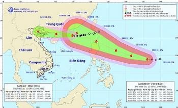Bão số 5 gây mưa lớn trên khu vực biển Đông