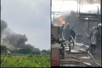 Hà Nội: Cháy lớn tại cửa hàng kinh doanh nội thất ở Dương Nội