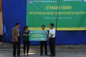 PVFCCo khánh thành khu nhà ở cho học sinh trường THCS Chiêu Lưu