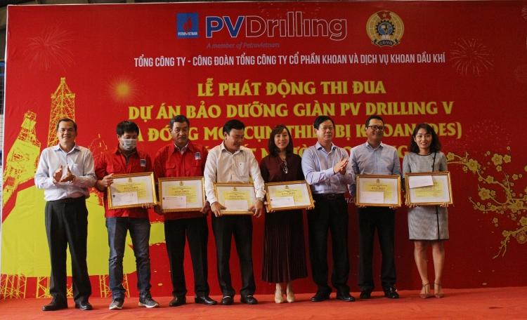 PV Drilling phát động thi đua cao điểm dự án đóng mới cụm thiết bị khoan (DES) và bảo dưỡng/tái khởi động giàn PV DRILLING V- chúc Tết NLĐ