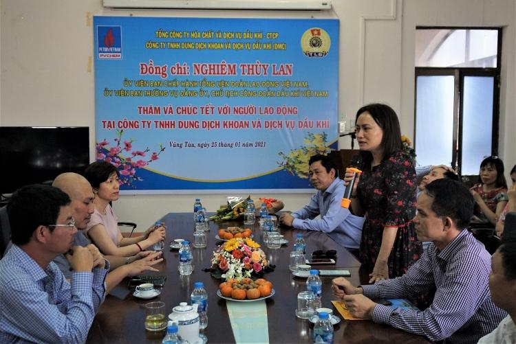 Chủ tịch CĐ DKVN thăm, động viên, chúc Tết người lao động PV Trans và PVChem