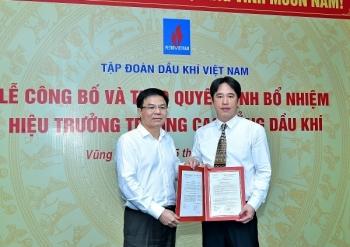 Công bố và trao quyết định bổ nhiệm Hiệu trưởng PVMTC cho đồng chí Bùi Quốc Sơn