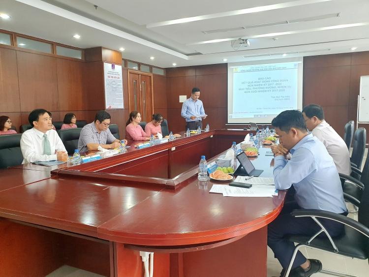 Công đoàn PVU tổ chức thành công Hội nghị sơ kết giữa nhiệm kỳ 2017-2022